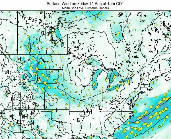 Wisconsin Surface Wind on Saturday 30 May at 7am CDT