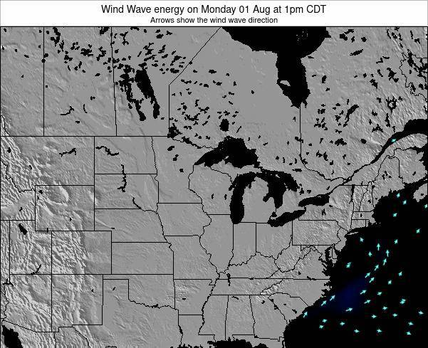 Wisconsin Wind Wave energy on Saturday 02 Aug at 1pm CDT