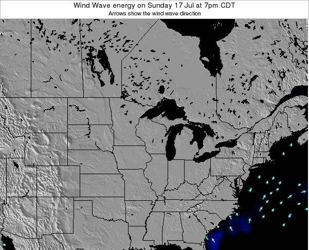 Wisconsin Wind Wave energy on Sunday 26 Jun at 1am CDT