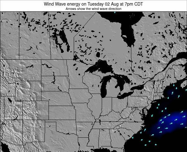 Wisconsin Wind Wave energy on Sunday 08 Dec at 6pm CST