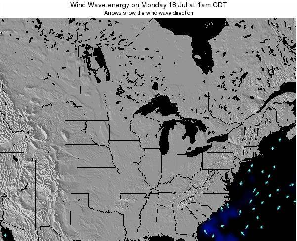 Wisconsin Wind Wave energy on Saturday 27 May at 1pm CDT