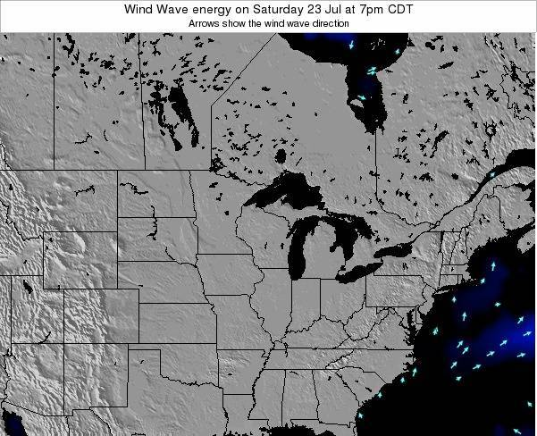 Wisconsin Wind Wave energy on Friday 24 Mar at 1pm CDT