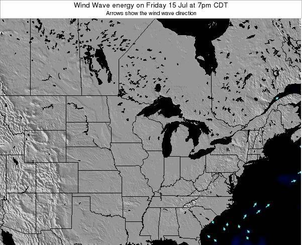 Wisconsin Wind Wave energy on Wednesday 23 Jul at 7pm CDT