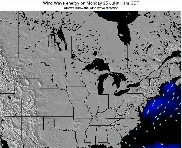 Wisconsin Wind Wave energy on Tuesday 22 Apr at 7am CDT