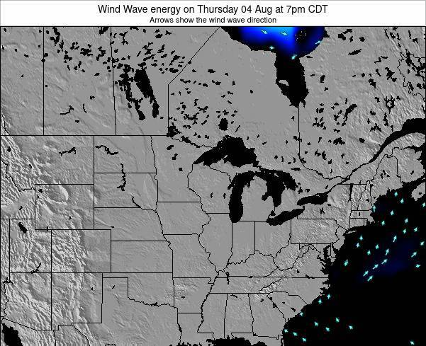 Wisconsin Wind Wave energy on Sunday 15 Dec at 12pm CST