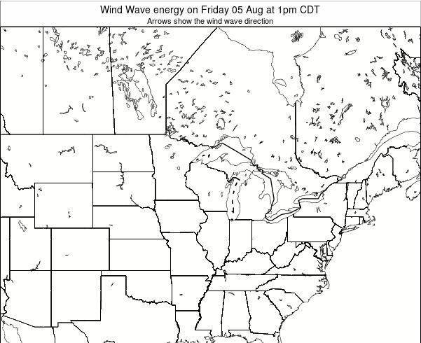 Wisconsin Wind Wave energy on Tuesday 28 May at 7pm CDT