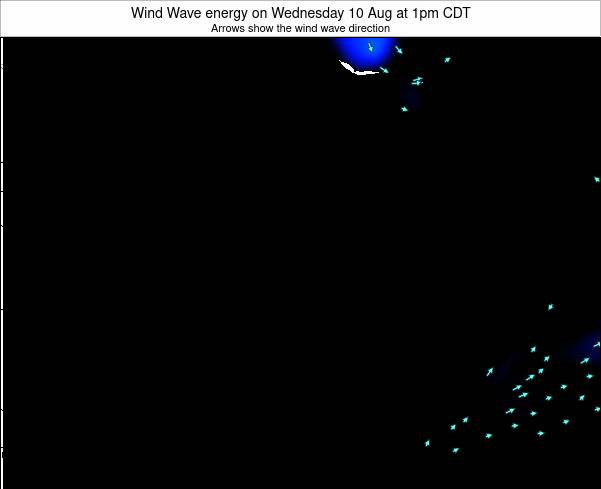 Wisconsin Wind Wave energy on Saturday 15 Mar at 1pm CDT