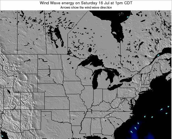 Wisconsin Wind Wave energy on Monday 09 Dec at 12am CST