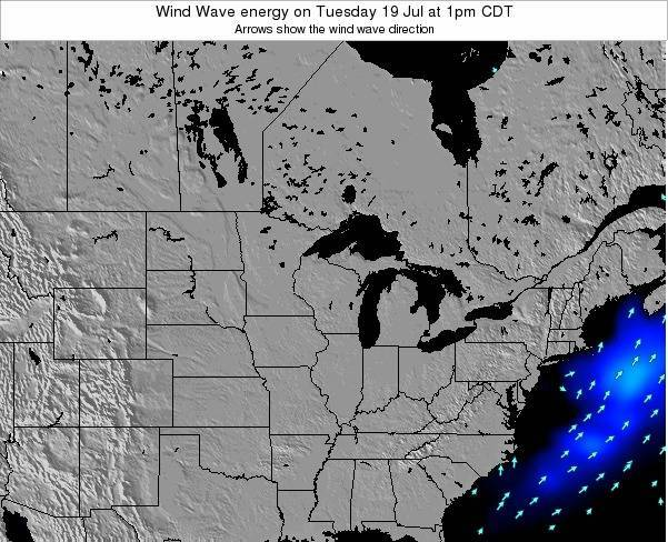 Wisconsin Wind Wave energy on Friday 20 Jan at 6am CST