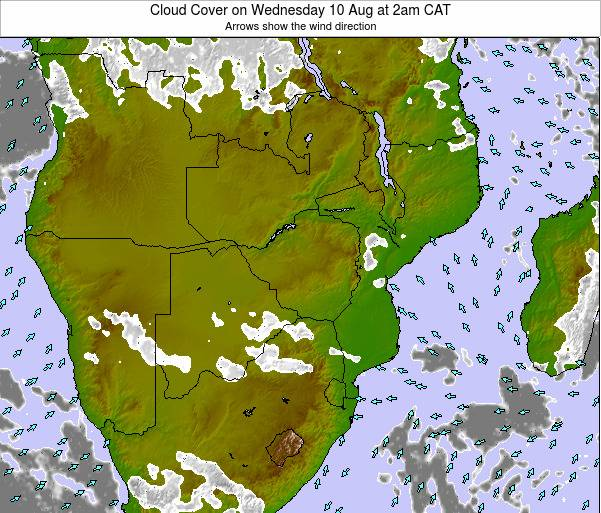 Namibia Cloud Cover on Wednesday 29 May at 8am CAT
