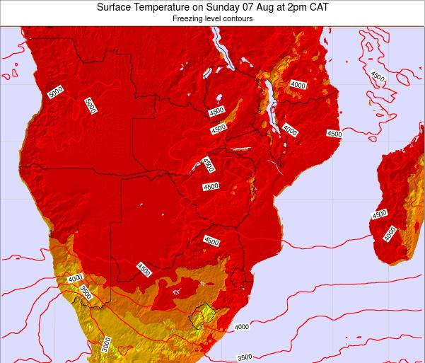 Namibia Surface Temperature on Sunday 26 May at 2am CAT