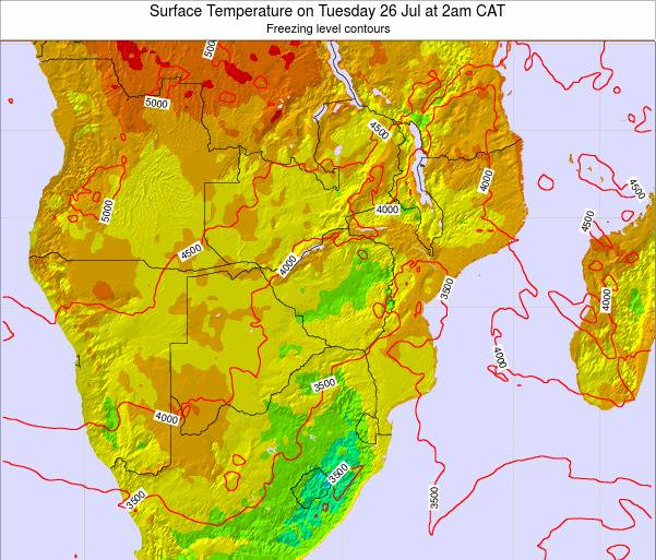 Namibia Surface Temperature on Sunday 26 May at 2pm CAT