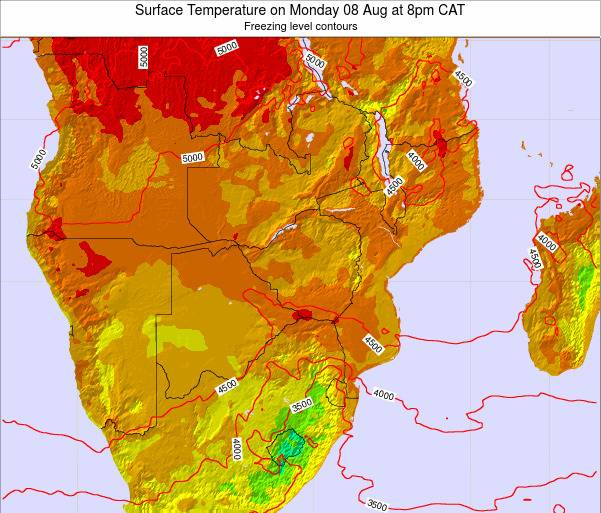 Namibia Surface Temperature on Wednesday 29 May at 2am CAT