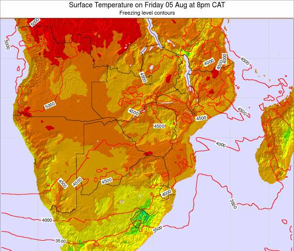 Namibia Surface Temperature on Monday 20 May at 2am CAT