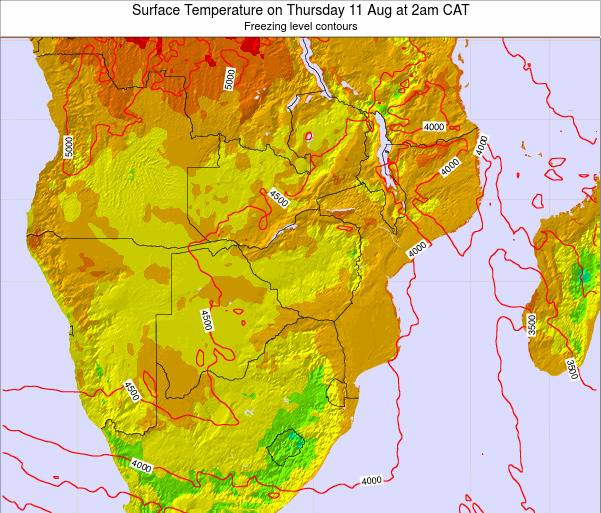 Namibia Surface Temperature on Friday 24 May at 2pm CAT map