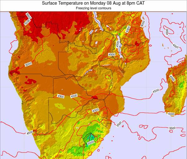 Namibia Surface Temperature on Thursday 23 May at 2pm CAT