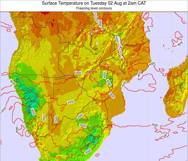 Namibia Surface Temperature on Sunday 19 May at 8am CAT