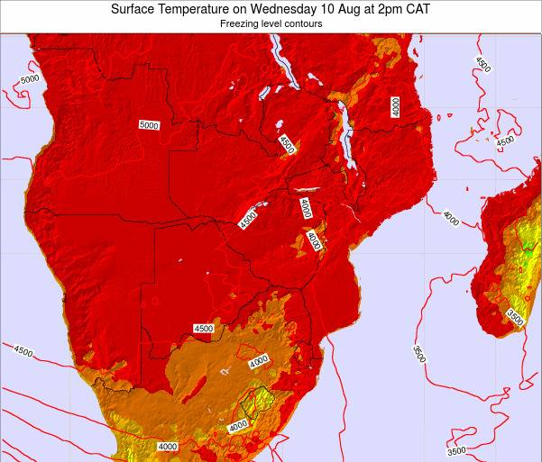 Zimbabwe Surface Temperature on Friday 24 May at 8am CAT map