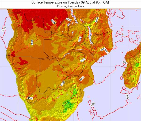 Namibia Surface Temperature on Friday 24 May at 8am CAT