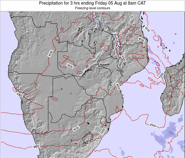 Namibia Precipitation for 3 hrs ending Saturday 19 Apr at 8am CAT map