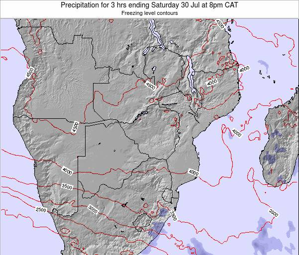 Namibia Precipitation for 3 hrs ending Friday 07 Mar at 8pm CAT map