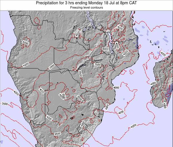 Namibia Precipitation for 3 hrs ending Thursday 13 Mar at 2pm CAT