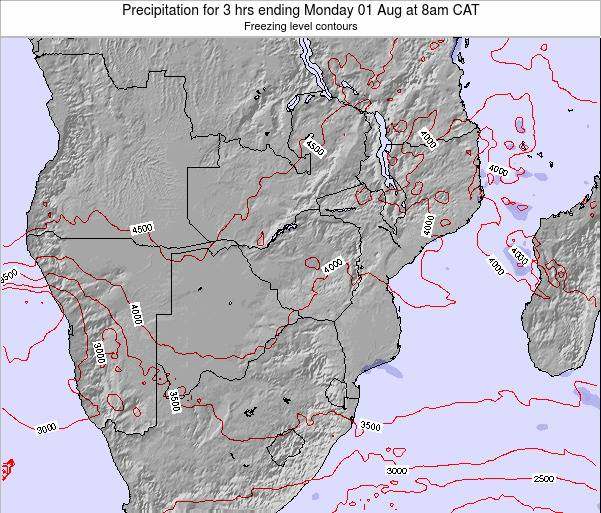 Namibia Precipitation for 3 hrs ending Sunday 22 Jan at 2pm CAT