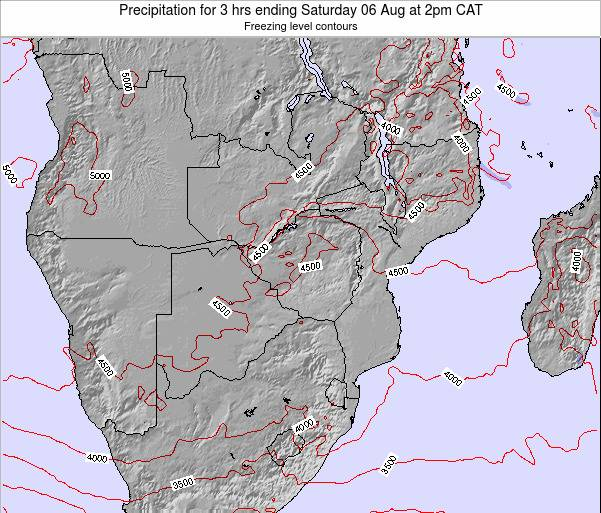 Malawi Precipitation for 3 hrs ending Thursday 23 May at 8am CAT map