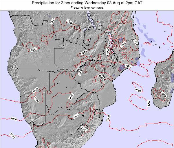 Namibia Precipitation for 3 hrs ending Tuesday 22 Apr at 8am CAT