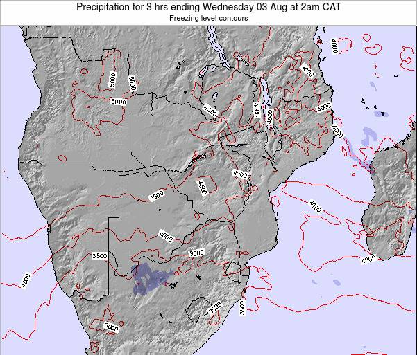 Namibia Precipitation for 3 hrs ending Monday 28 Apr at 2am CAT