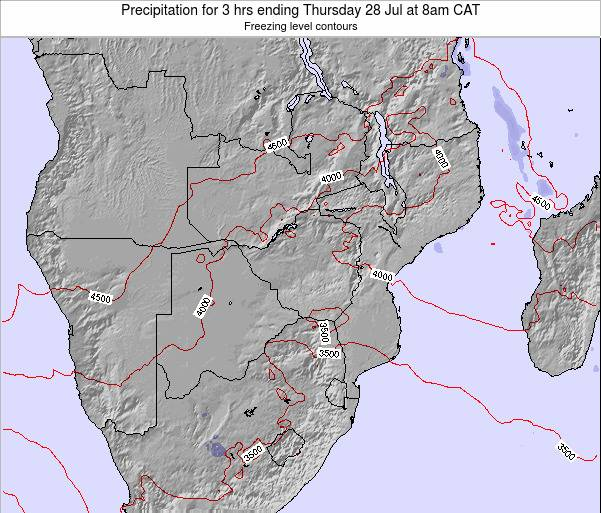 Namibia Precipitation for 3 hrs ending Tuesday 04 Aug at 2am CAT