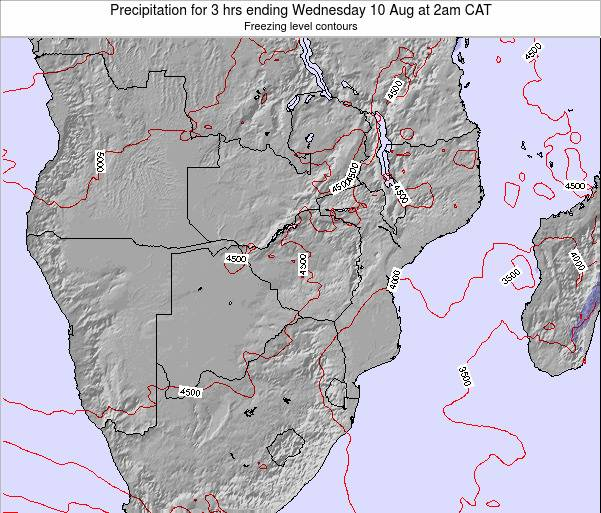 Namibia Precipitation for 3 hrs ending Tuesday 21 May at 8am CAT