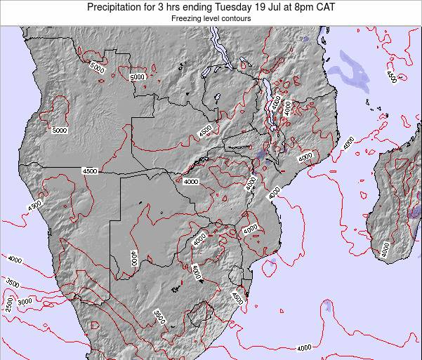 Namibia Precipitation for 3 hrs ending Sunday 20 Apr at 8am CAT