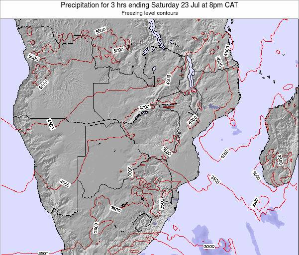 Namibia Precipitation for 3 hrs ending Monday 16 Dec at 8pm CAT