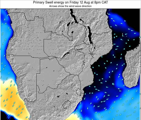 Mozambique Primary Swell energy on Monday 17 Mar at 8am CAT