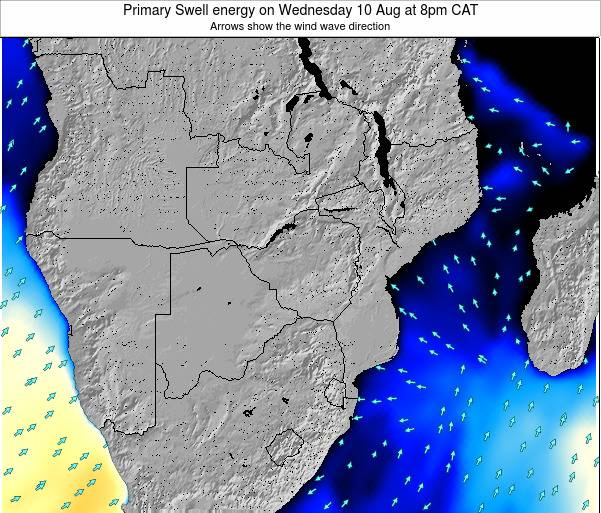 Mozambique Primary Swell energy on Wednesday 30 Jul at 8am CAT