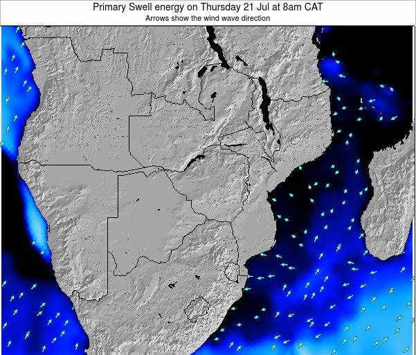 Mozambique Primary Swell energy on Sunday 07 Sep at 8am CAT