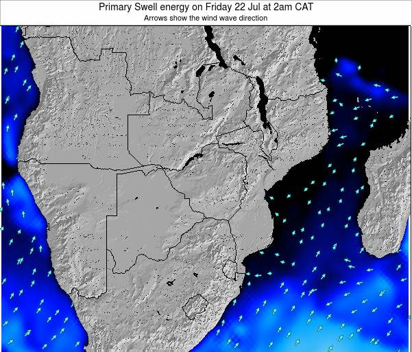 Mozambique Primary Swell energy on Saturday 21 Apr at 2am CAT map