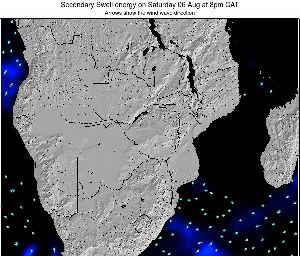 Mozambique Secondary Swell energy on Tuesday 29 Apr at 2pm CAT