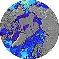 Alaska wave height map
