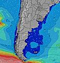 Uruguay South wave height map