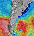 Uruguai wave height map