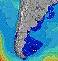 Uruguay North wave height map