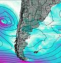 Uruguay wind map