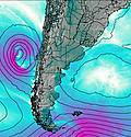 Uruguay South wind map