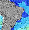 Brésil wave height map