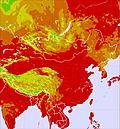 Mongolia temperature map