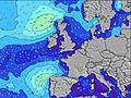 United Kingdom wave height map
